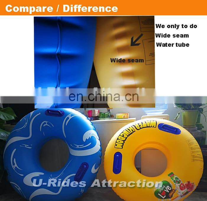 Yellow Color PVC Inflatable Swimming Ring With Small Logo