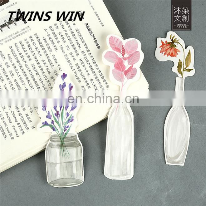 yiwu 2018 new school office supplies stationery products wholesale Beautiful standard size vintage paper flower shaped bookmark