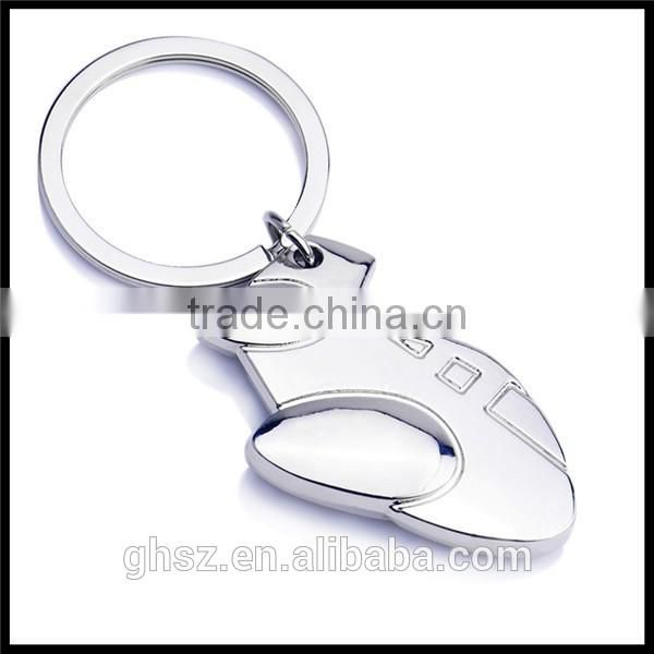Cheap stainless steel dolphin model key chain ring for sale