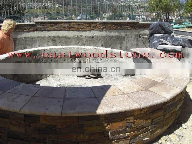 yellow limestone swimming pool project