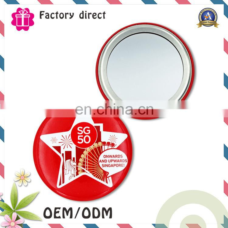 flexible personalized makeup double sides cosmetic pocket mirror travel mirror