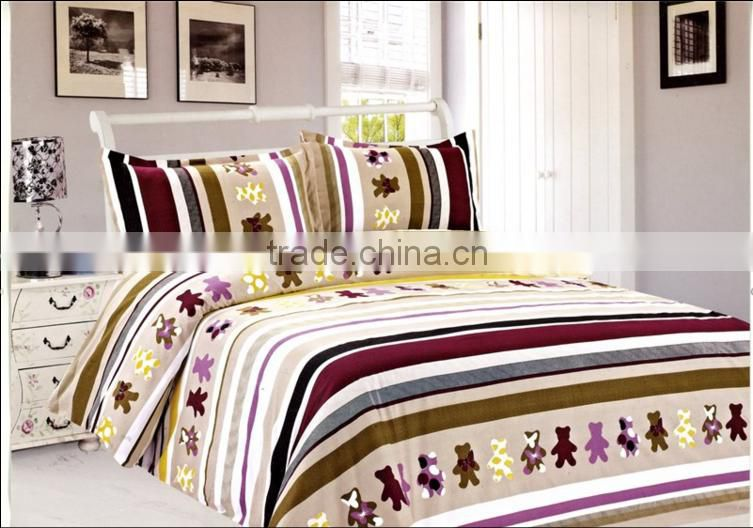 4D cheap polyester printing bedding sheets bedding sets