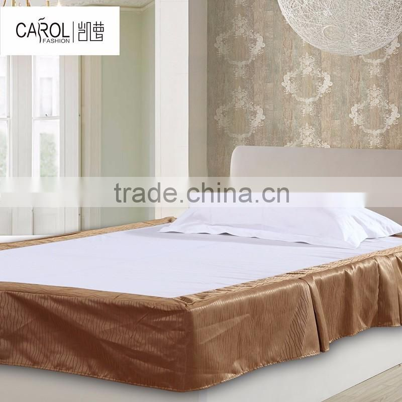 China supplier good quality fitted hotel bed skirt