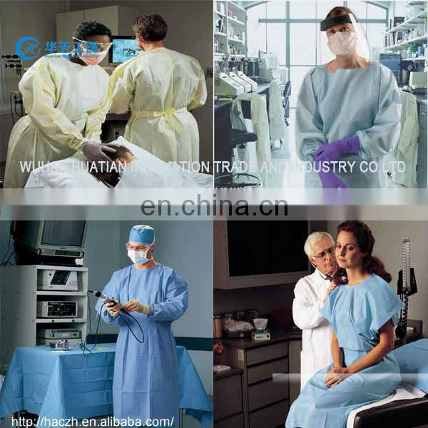 Nonwoven Waterproof OEM Custom Protective Isolation Gown