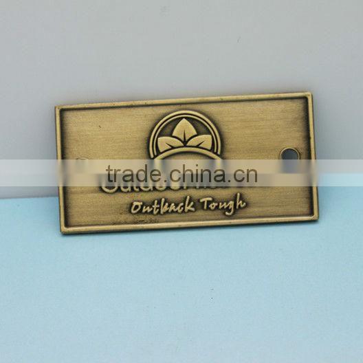 OEM Own logo High Qualtity copper brand badge made in China