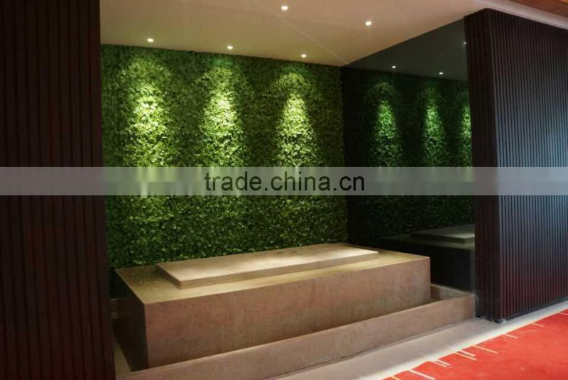 fake vertical plastic green wall decoration