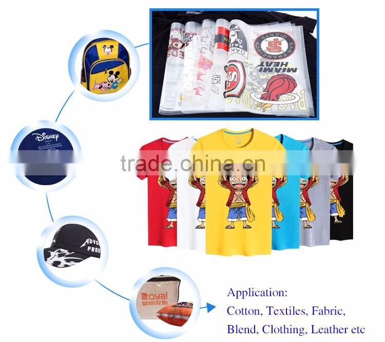High Quality Custom Screen Print Plastisol Heat Transfer for garment