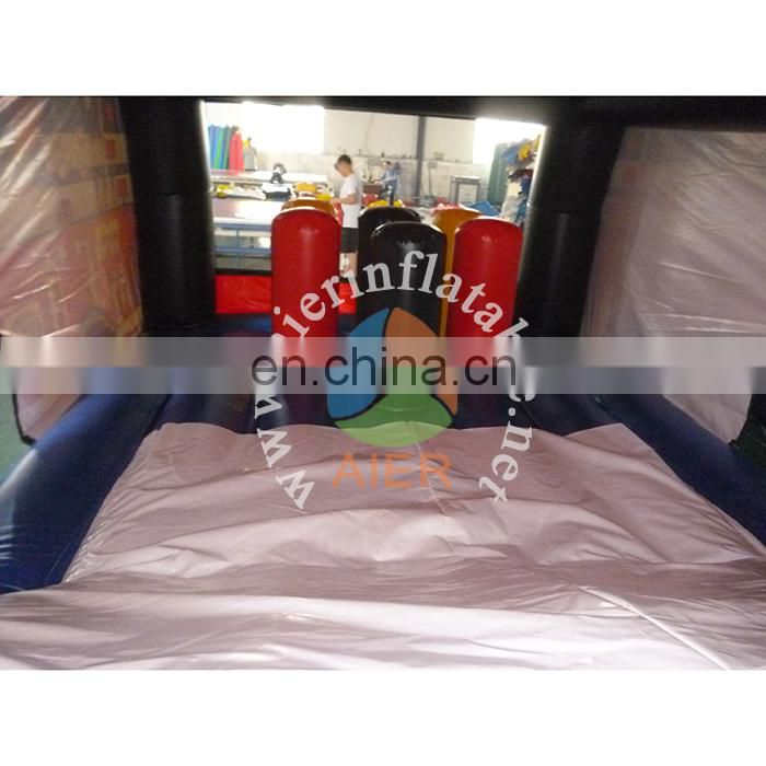2017 newest infaltable bouncer for kids and adults/Giant fire truck castle house inflatable jumping castle house