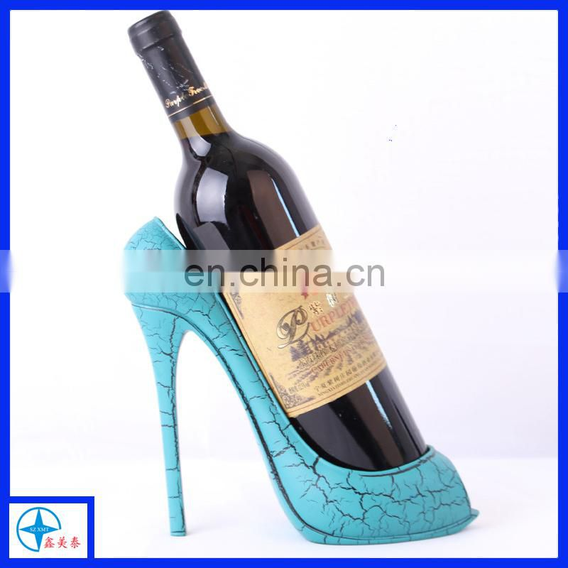 Creative resin high heel shoe wine bottle holder