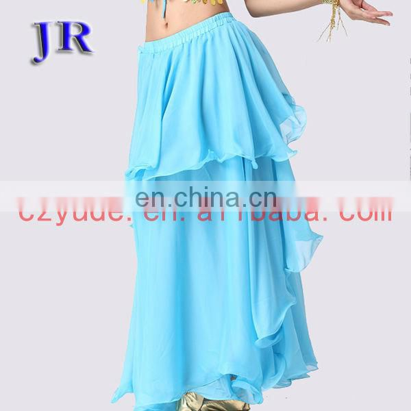 High chiffon cheap ballroom long belly dance skirt for women Q-6001#