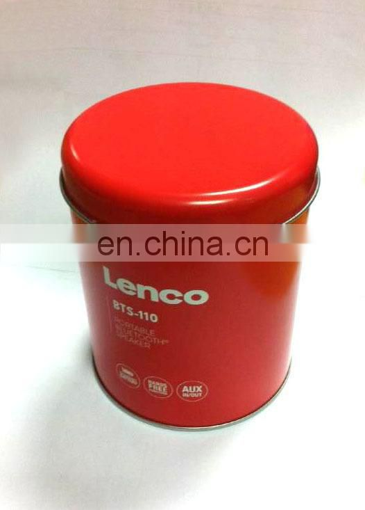 Round tin box 0.23mm First Grade Tinplate, Measures Dia89x106MMH