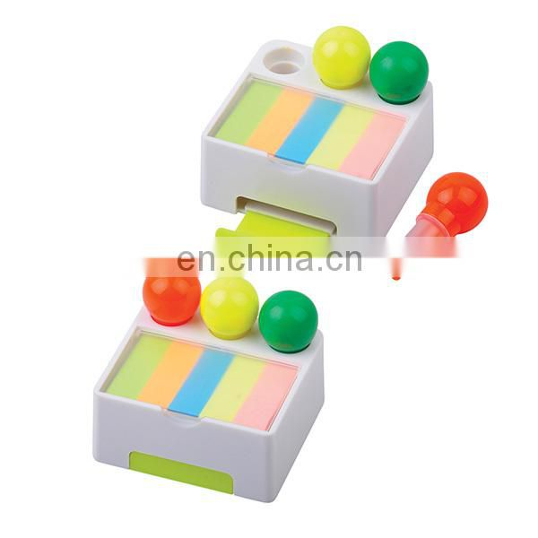 blue red green color mobile phone bracket highlighter with note paper