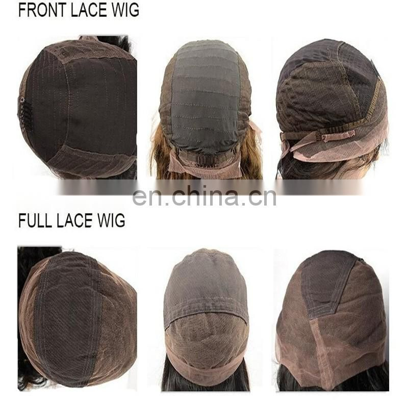 Alibaba wholesale human hair frontal lace wig remy brazilian hair naturale water wave color 2# hair wigs