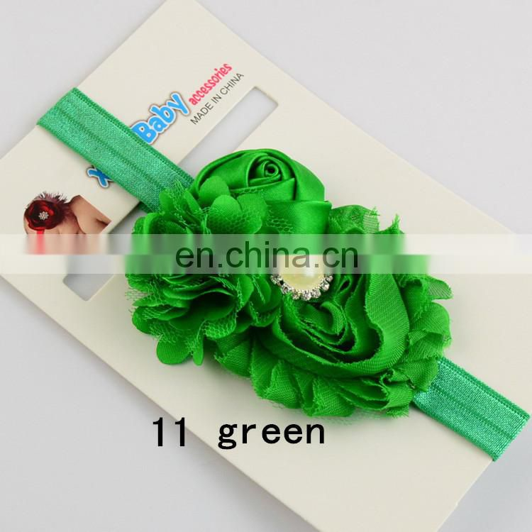 Wholesale children's jewelry rosebuds old Satin gauze cloth flower hair band