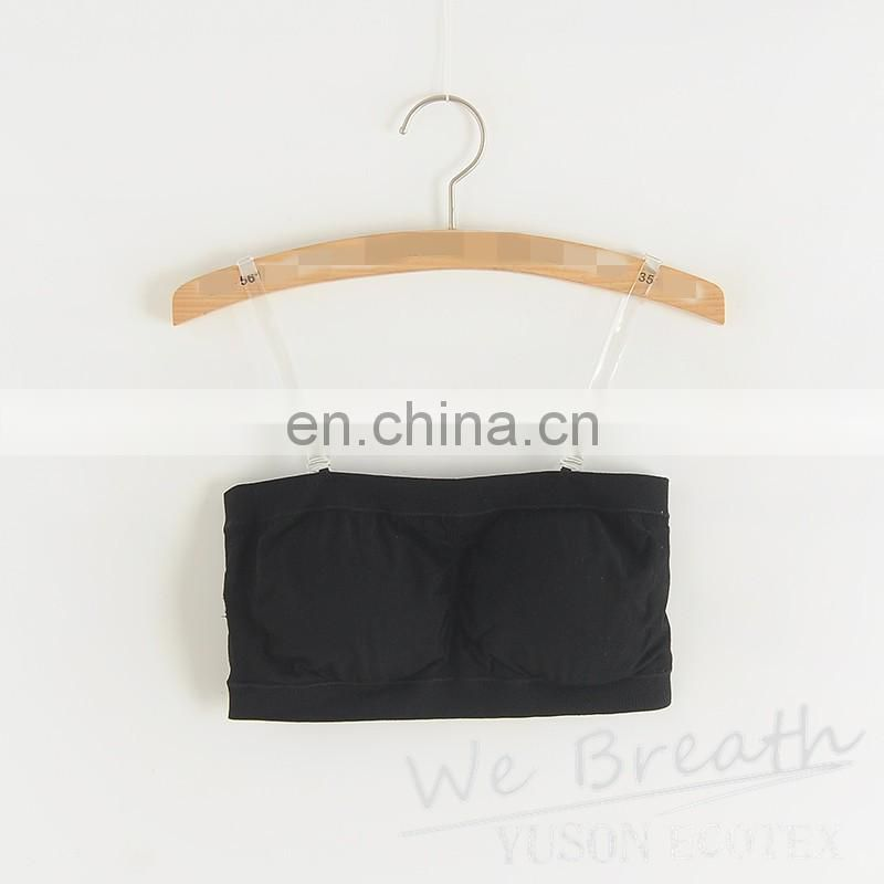 Seamless Breathable Tube Bra With Removable Pads Nature Bamboo Fiber