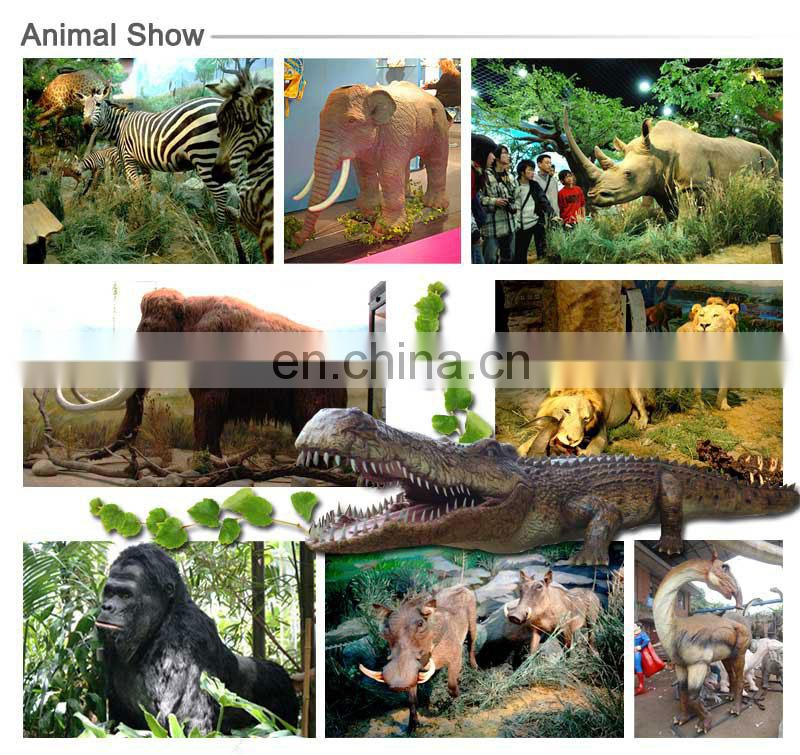 Amusement outdoor animatronic life size animal replica