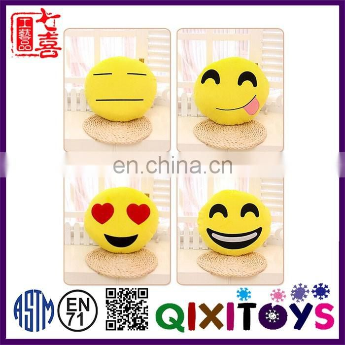 Wholesale cheaper emoji plush pillow various styles customized sizes plush emoticon emoji pillow