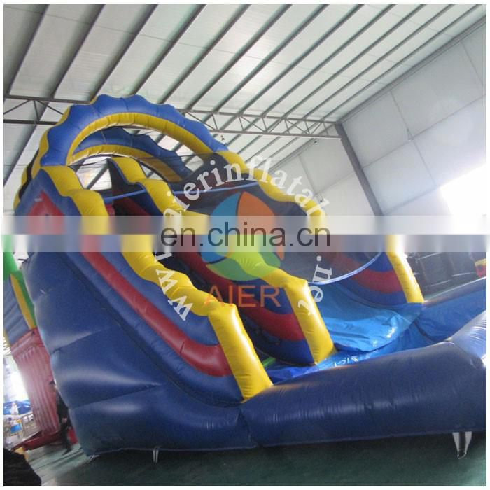 2017 Aier guangzhou attractive commercial medium Blue waterslide/best quality inflatable water slide for kids