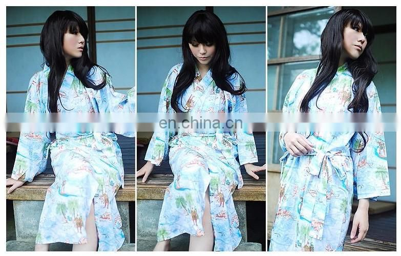 Chinavictor Manufacture 100% Cotton Hot Sex Girl Adult Free Size Japan Bathrobes