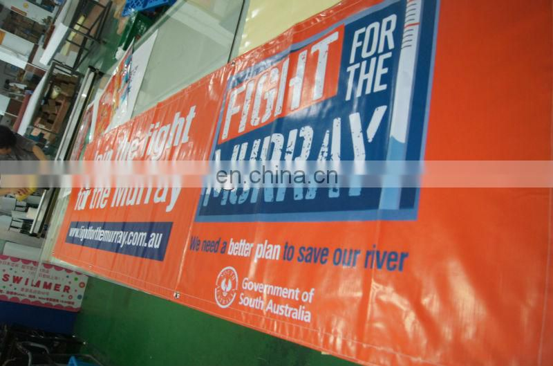 advertising outdoor banner with grommets