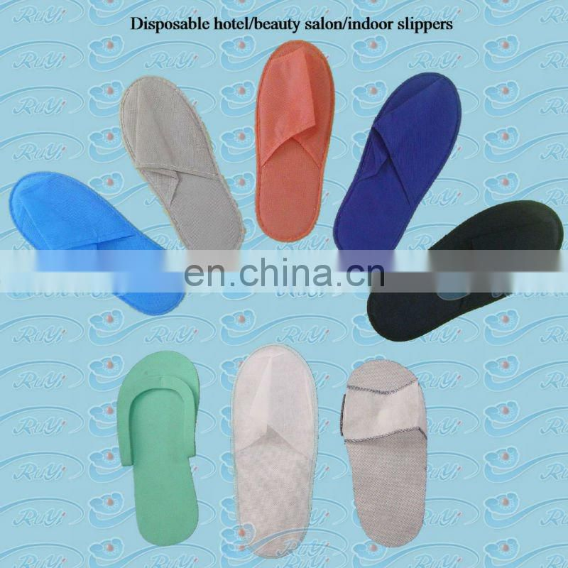nonwoven PP disposable open toe slipper / baboosh / babouche / home chinela