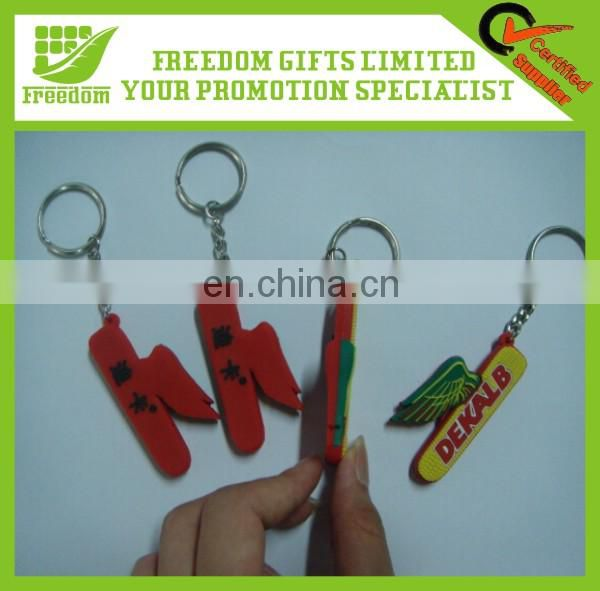 Advertising Customized Logo PVC Keychain for Promotion