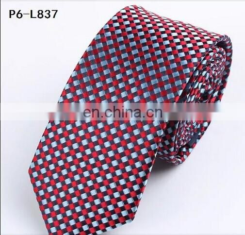 2015 fashion customer made mens silk tie with checks