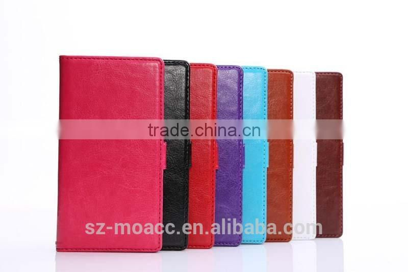 Fine sheep lines flip wallet leather case for sony xperia z3