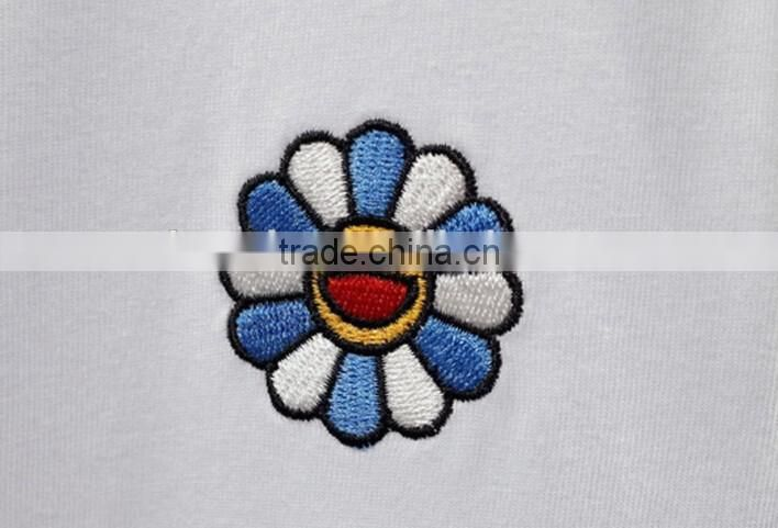 embroidered t-shirt women's 100% t-shirt wholesale from china