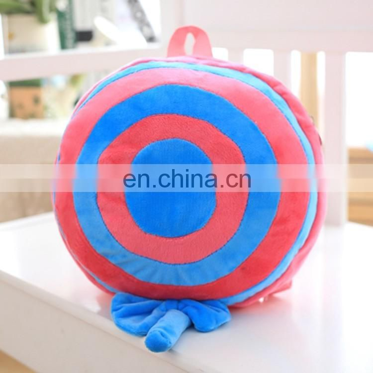Professional production wholesale creative candy toys design plush backpack for kids