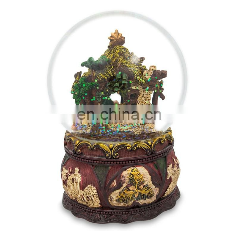 Manufacturers Wholesale Resin Diy Custom Nativity Snow Globe