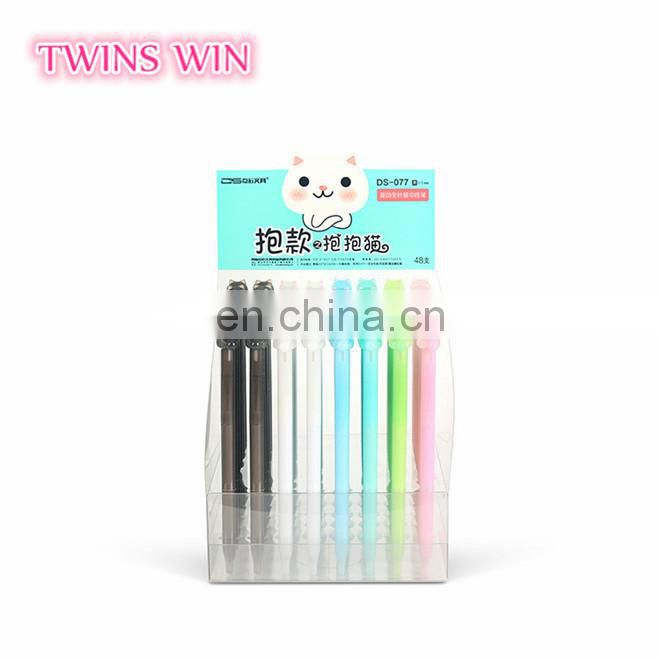 Ecuador Promotional latest school supplies stationery items best quality assorted colors animal shaped gel pens set