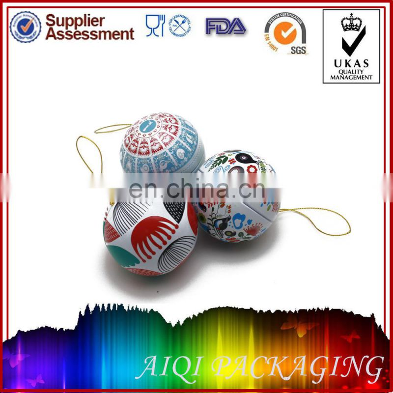 2014 newest hot selling ball tin for chocolate