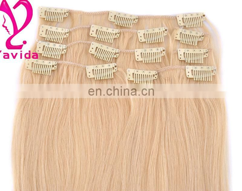 christmas ornament high quality plastic clip for hair extensions Remy Clip In Hair Extension clip hair
