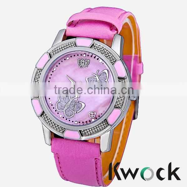 Bling Jewelry Red Leather Lady Watches 2014