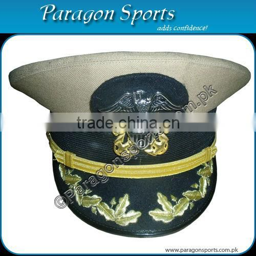 Military Peak Cap with Cavalry Crossed metal badges
