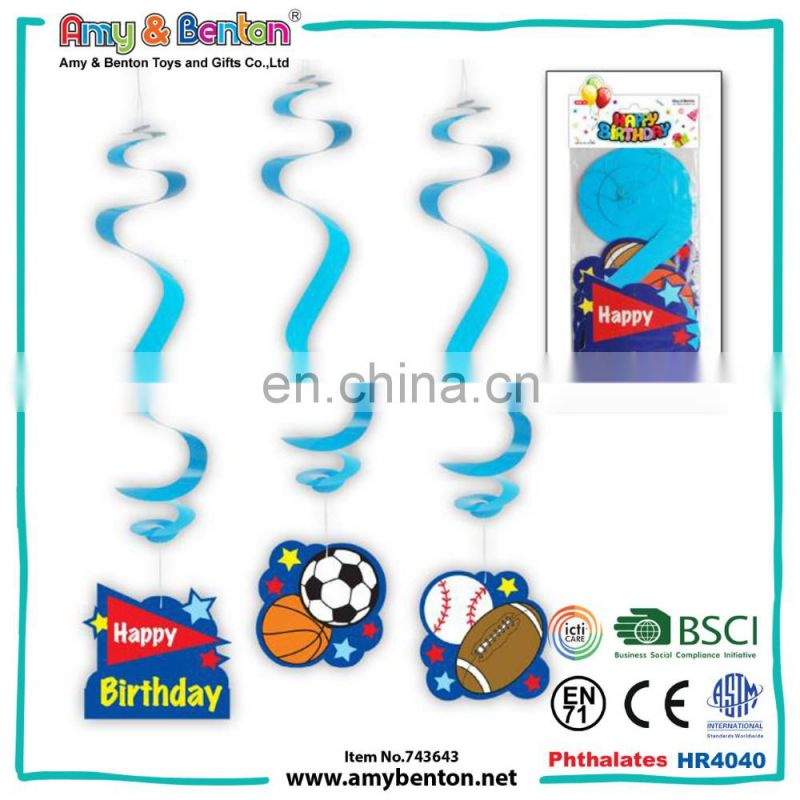 Hot selling birthday decorations cake pattern ribbons for kids