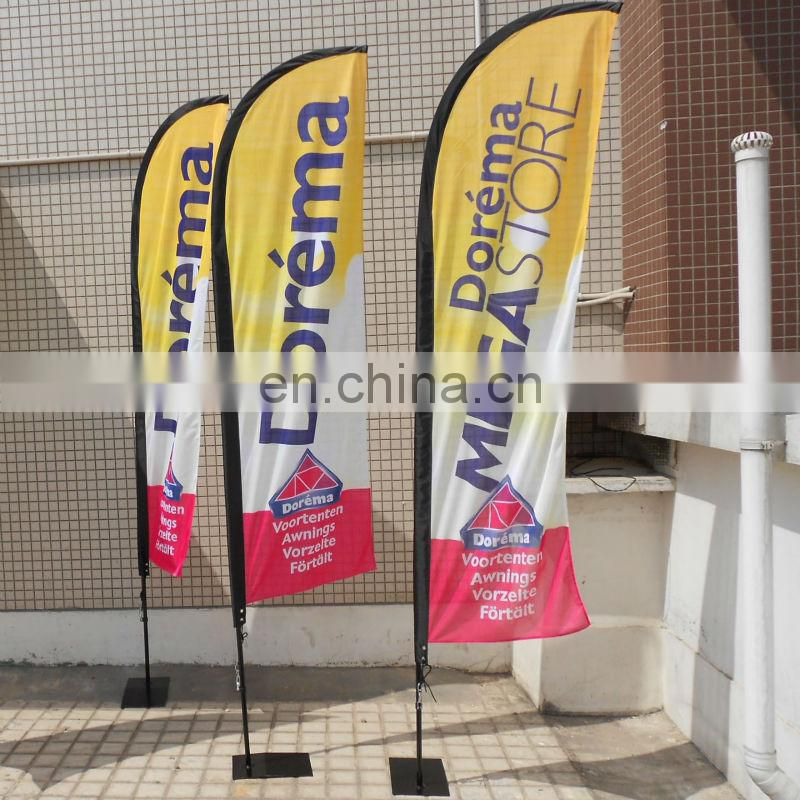 advertising flying teardrop flag banner