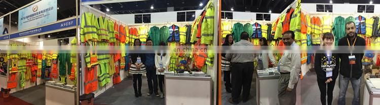 Road safety jackets with PVC reflective tape