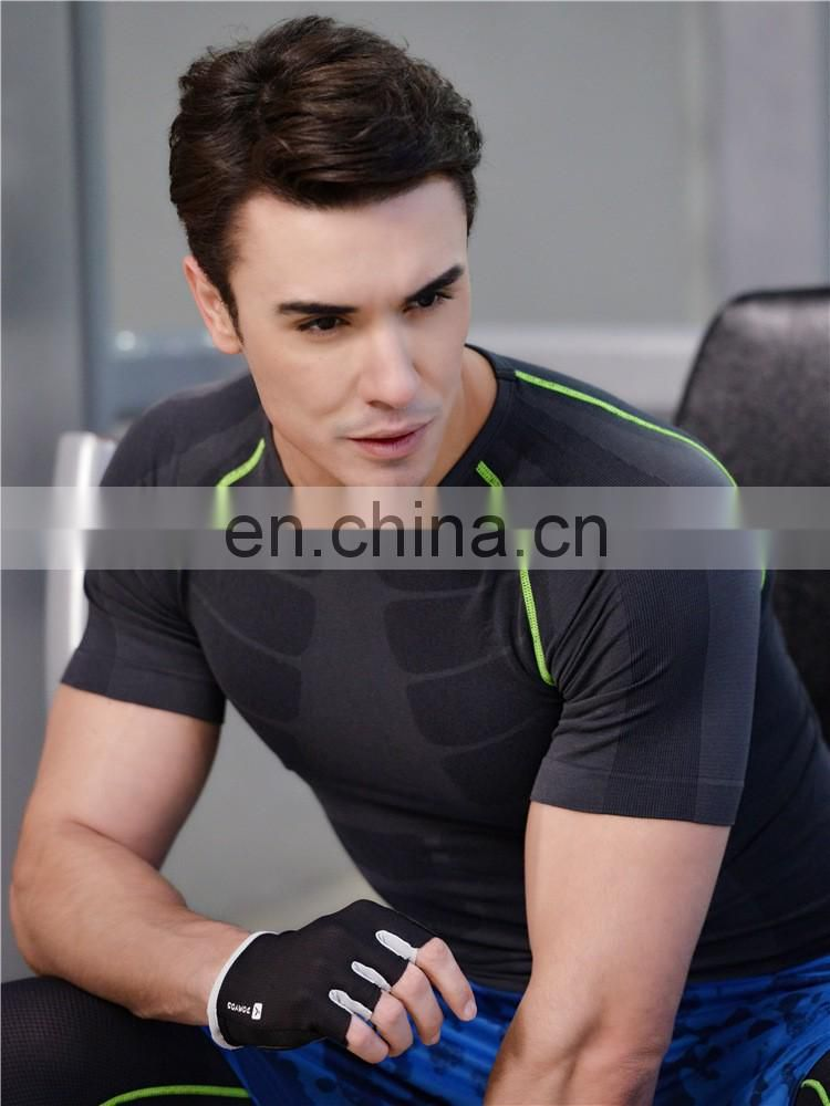 Men's Quick Dry Compression Baselayer Short Sleeve Gym T Shirt