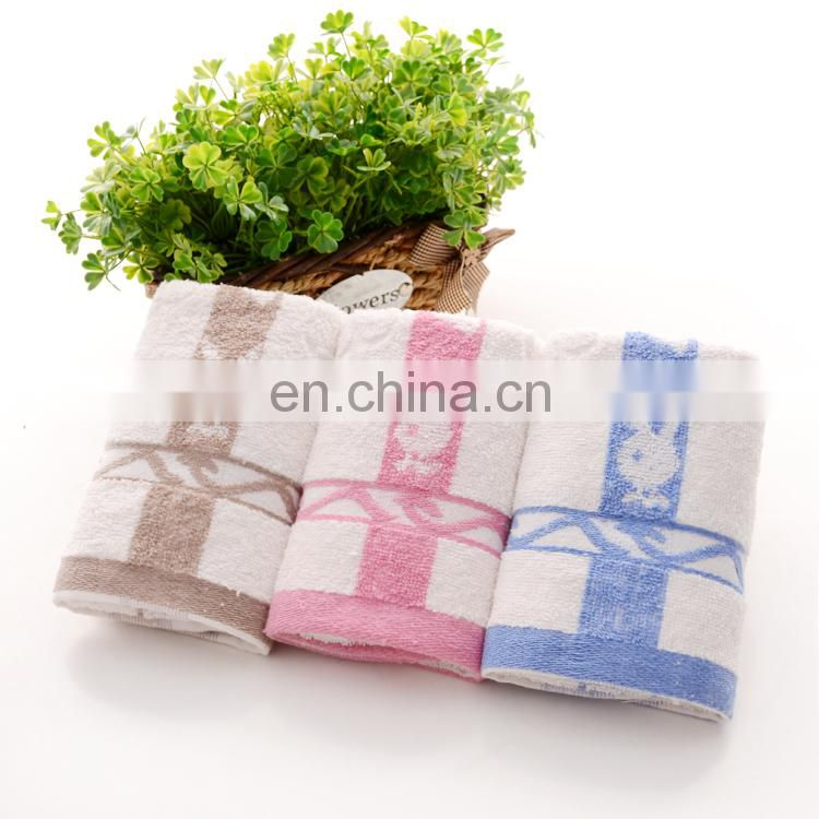 100% cotton super soft and absorbent embroidered rabbit head towel