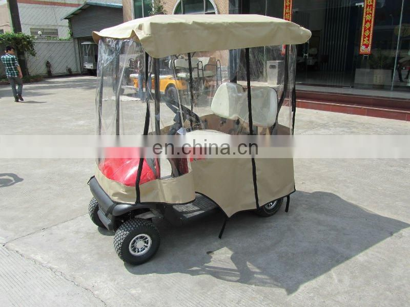 OEM Brand Street Legal Golf Cart in red color, with golf cart enclosures, curtis controller and aluminum alloy frame