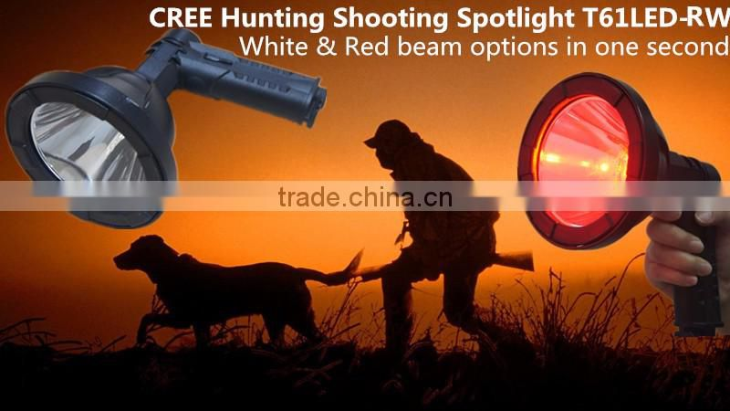 New CREE Rechargeable red Light LED Hunting Handheld Spotlight
