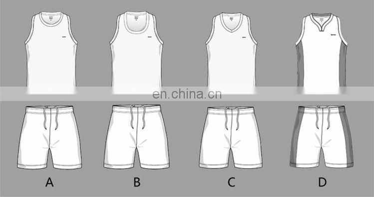 New Design Quick Dry Custom Sublimated Team Basketball Uniform For Men