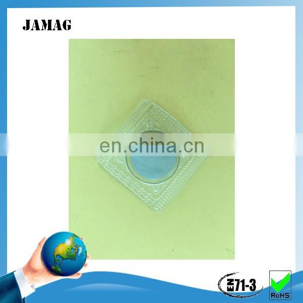 very strong button magnet with pvc cover