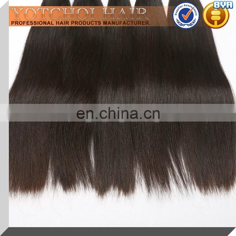 Fashion grade curly natural color 7A raw virgin human hair extension