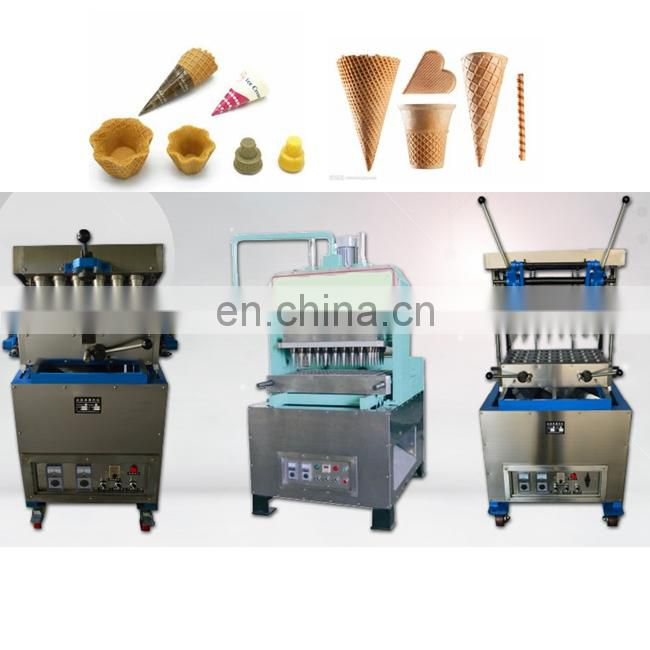 Industrial commercial ice cream cone wafer mold machine/ice cream waffle cone maker