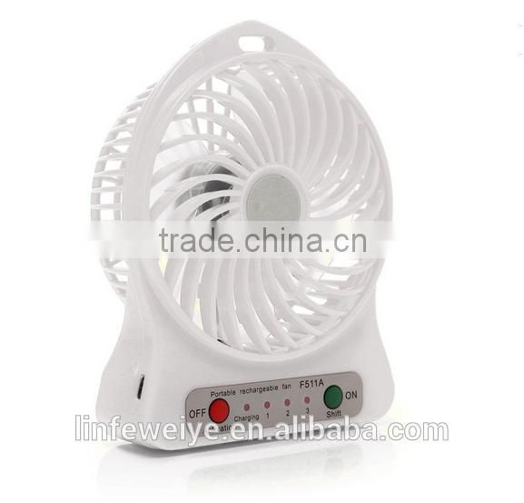 Wholesale Plastic Super USB Mini Desk Fan, Standing Battery Fan Good for Office and Home