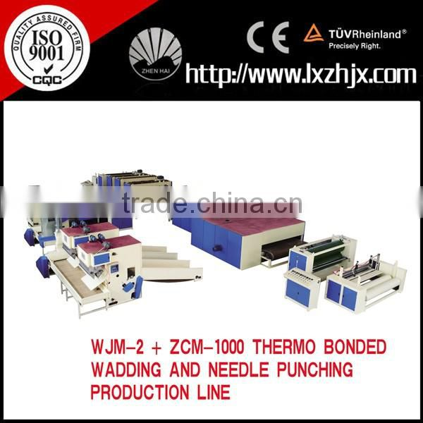 WJM-2 model non woven home textile padding production line , automatic wadding making machine