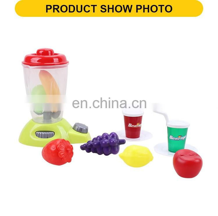 New product kids plastic kitchen play set mini juicer machine